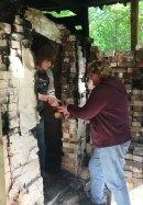 Potters unload kiln